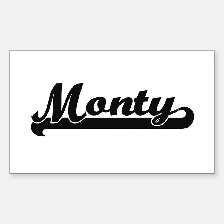 Monty Classic Retro Name Design Decal