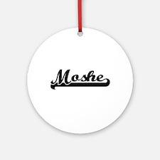 Moshe Classic Retro Name Design Ornament (Round)