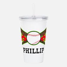 Baseball (p) Acrylic Double-wall Tumbler