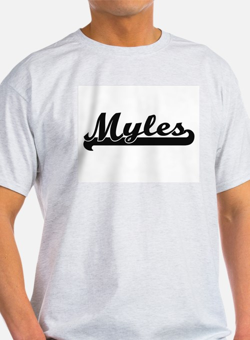Myles Classic Retro Name Design T-Shirt