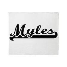 Myles Classic Retro Name Design Throw Blanket