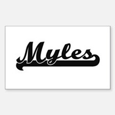Myles Classic Retro Name Design Decal