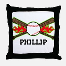 Baseball (p) Throw Pillow