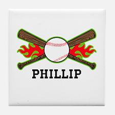Baseball (p) Tile Coaster