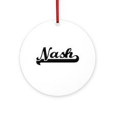 Nash Classic Retro Name Design Ornament (Round)