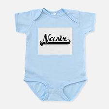 Nasir Classic Retro Name Design Body Suit