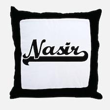 Nasir Classic Retro Name Design Throw Pillow