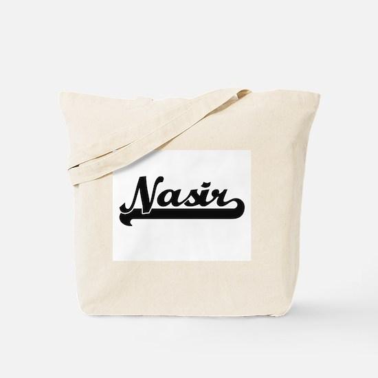 Nasir Classic Retro Name Design Tote Bag