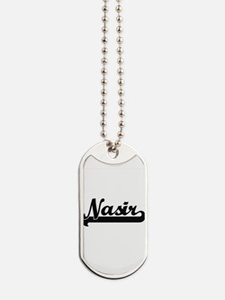 Nasir Classic Retro Name Design Dog Tags
