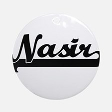 Nasir Classic Retro Name Design Ornament (Round)