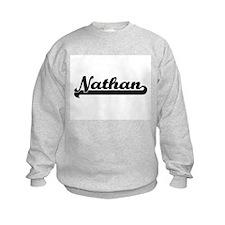 Nathan Classic Retro Name Design Sweatshirt