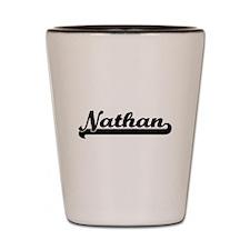 Nathan Classic Retro Name Design Shot Glass