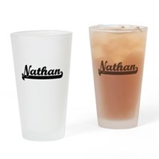 Nathan Classic Retro Name Design Drinking Glass