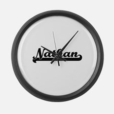 Nathan Classic Retro Name Design Large Wall Clock