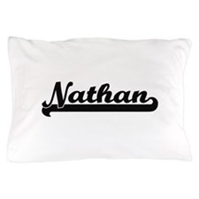 Nathan Classic Retro Name Design Pillow Case