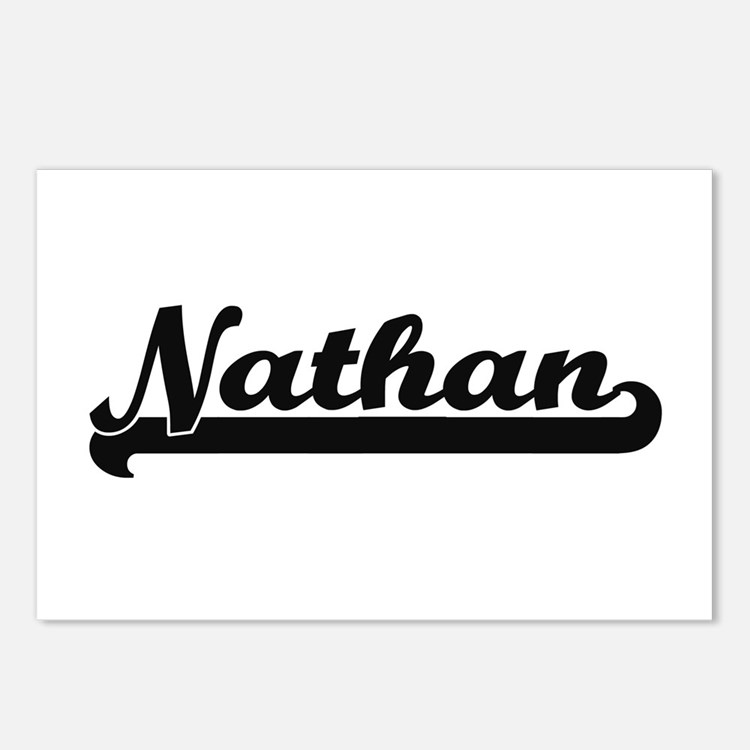 Nathan Classic Retro Name Postcards (Package of 8)