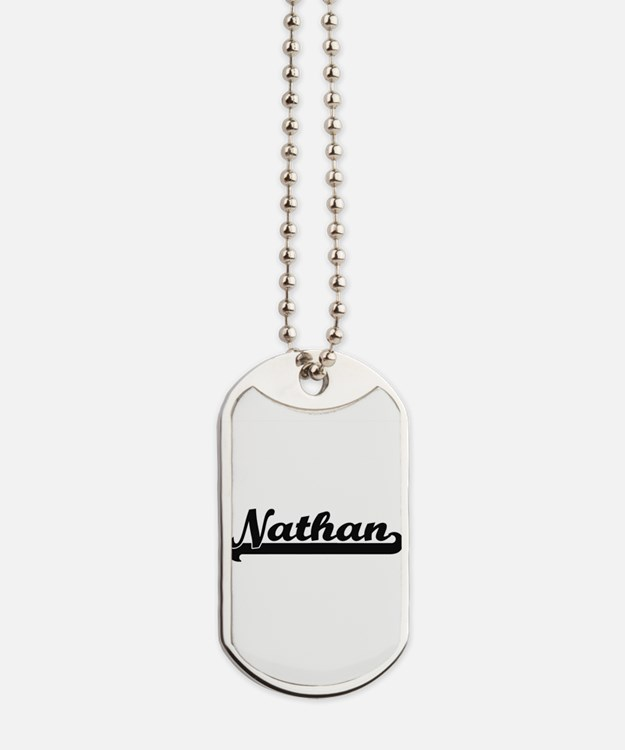 Nathan Classic Retro Name Design Dog Tags