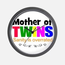 crazy mom of twins Wall Clock