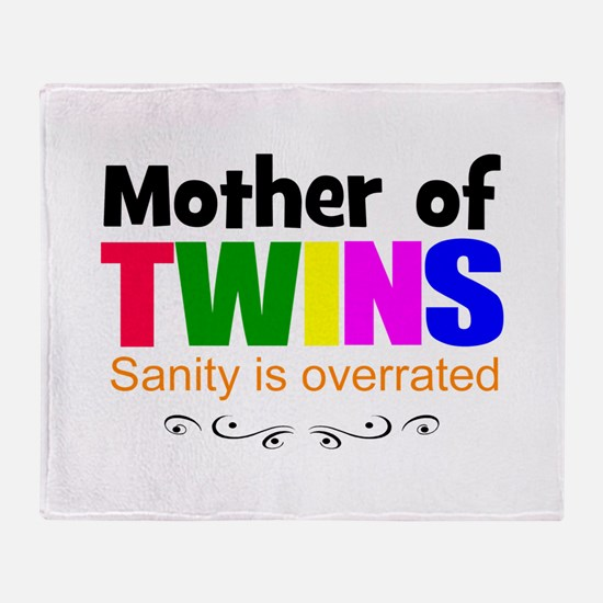 crazy mom of twins Throw Blanket
