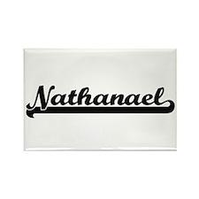 Nathanael Classic Retro Name Design Magnets