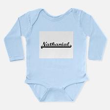 Nathanial Classic Retro Name Design Body Suit