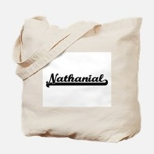 Nathanial Classic Retro Name Design Tote Bag