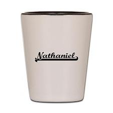 Nathaniel Classic Retro Name Design Shot Glass