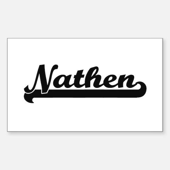 Nathen Classic Retro Name Design Decal