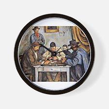 card player art Wall Clock