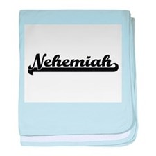 Nehemiah Classic Retro Name Design baby blanket