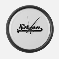 Nelson Classic Retro Name Design Large Wall Clock