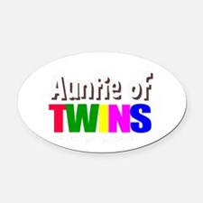 auntie twins Oval Car Magnet