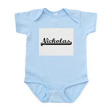 Nickolas Classic Retro Name Design Body Suit