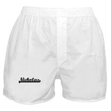 Nickolas Classic Retro Name Design Boxer Shorts
