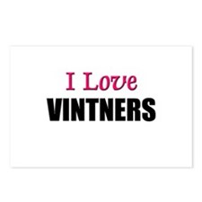 I Love VINTNERS Postcards (Package of 8)