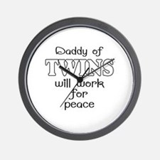 daddy of twins Wall Clock