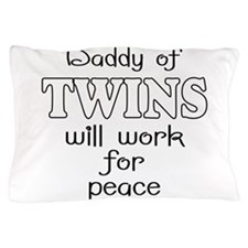 daddy of twins Pillow Case