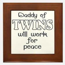 daddy of twins Framed Tile