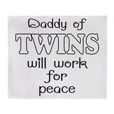 daddy of twins Throw Blanket