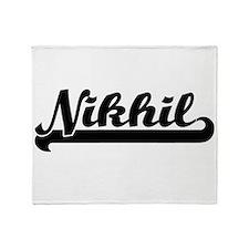 Nikhil Classic Retro Name Design Throw Blanket