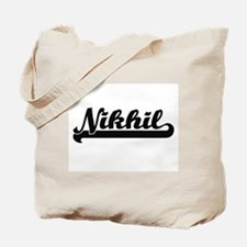 Nikhil Classic Retro Name Design Tote Bag