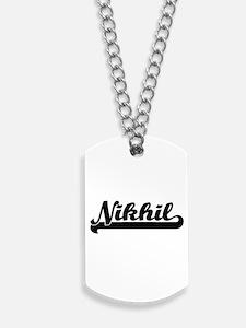 Nikhil Classic Retro Name Design Dog Tags