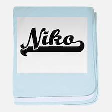 Niko Classic Retro Name Design baby blanket