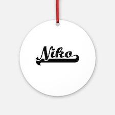 Niko Classic Retro Name Design Ornament (Round)