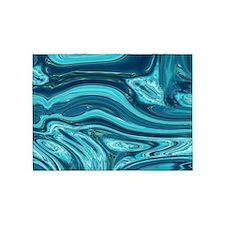 summer beach turquoise waves 5'x7'Area Rug