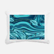 summer beach turquoise w Rectangular Canvas Pillow