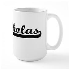 Nikolas Classic Retro Name Design Mugs
