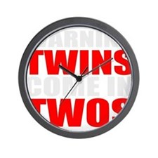 twins funny Wall Clock
