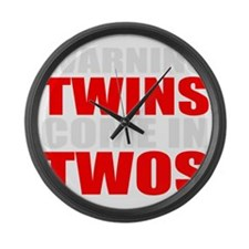 twins funny Large Wall Clock