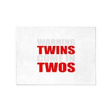twins funny 5'x7'Area Rug